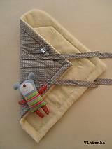 Textil - Klasická zavinovačka pre novorodenca zimná 100% MERINO TOP Bodka sivá - 7752495_