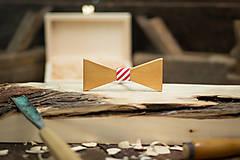 Doplnky - Drevený  motýlik - Oscar 1 - 7753199_