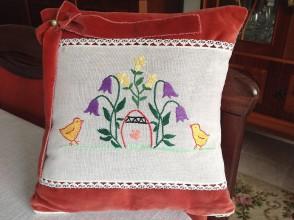 Úžitkový textil - Vankúšik s veľkonočným motívom - 7750257_