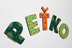 Tabuľky - Drevené písmená PEŤKO - 7749721_