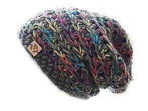Čiapky - Crazy Color čiapka šedá 2 - 7750542_