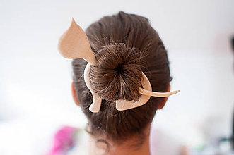 Ozdoby do vlasov - Spona do vlasov Mačka - 7750840_