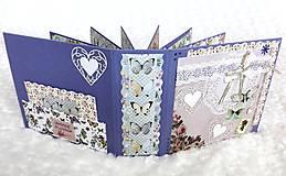 Papiernictvo - Svadobný fotoalbum kvetinový a motýlikový - 7751092_