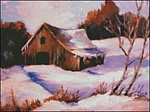 K015 Stará stodola - predloha na vyšívanie