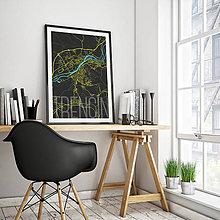 Grafika - TRENČÍN, elegantný, čierny - 7752103_