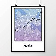 Grafika - TRENČÍN, klasický, modro-fialový - 7752210_