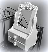 - Biele zrkadlo ornament - 7751069_