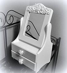 Krabičky - Biele zrkadlo ornament - 7751069_