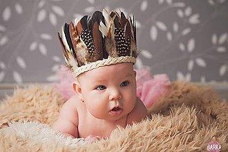 Ozdoby do vlasov - Malá indiánka pre detičky - 7752031_