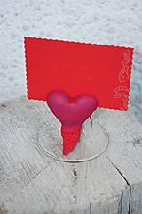 Dekorácie - srdce - držiak na kartičku/memo - 7749983_