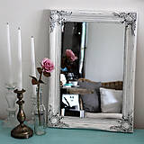 - Vintage zrkadlo v bielej - 7750600_