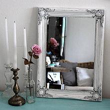 Zrkadlá - Vintage zrkadlo v bielej - 7750600_