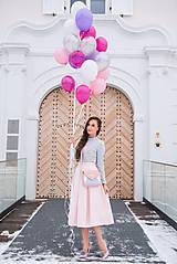 Sukne - Midi skladaná sukňa - 7750746_