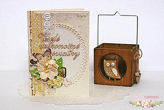 Papiernictvo - Scrapbooková pohľadnica XXV - 7758820_