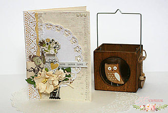 Papiernictvo - Scrapbooková pohľadnica XXVIII - 7758840_