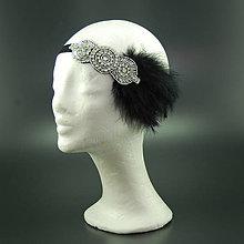 Ozdoby do vlasov - Great Gatsby Round ... čelenka - 7755780_