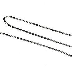 Náhrdelníky - Antique Silver Chain 80cm / Retiazka 80cm bižutérna - starostriebro / platina - 7754417_