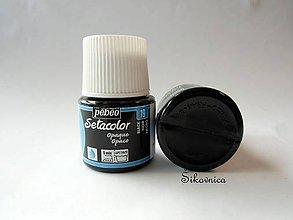 Farby-laky - Farba na textil Pébéo, Setacolor opaque, 19 black (čierna) - 7758642_