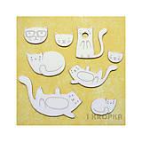 - Výrezy - Lenivé mačky - veľký set - 7756453_