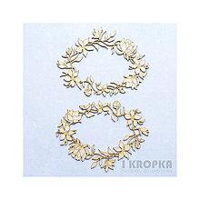 Polotovary - Výrez Bloom - kvetinové rámčeky stredné, 2ks - 7756907_