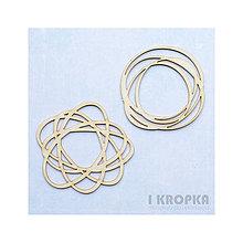 Polotovary - Výrez Doodles - kruh a atóm, 2ks - 7757074_