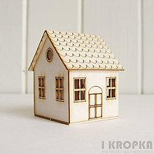 Polotovary - Výrez Miniatúrny domček na postavenie + strom - 7758663_