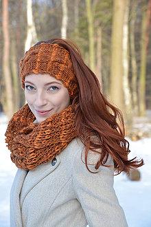 Ozdoby do vlasov - Měděný melír čelenka - 7754419_