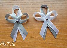 Pierka - svadobné pierka v šedom - 7758255_