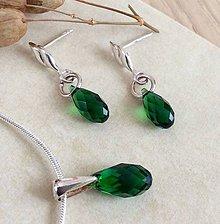 Sady šperkov - Strieborný set Swarovski, Irish Green - 7757703_