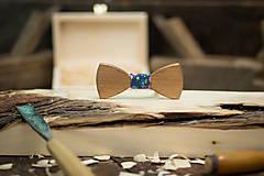 Doplnky - Drevený motýlik - FOLK 6 - 7758276_