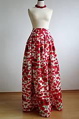 Sukne - maxisukňa vlčie maky - 7758260_