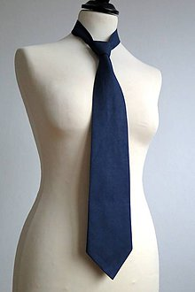 Doplnky - pánska kravata - modrá k sukni - 7758198_