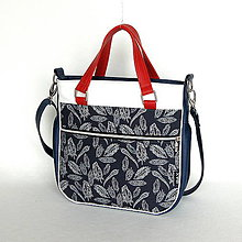 Veľké tašky - Big Sandy - Tmavomodrá s pierkami - 7758107_