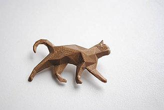Odznaky/Brošne - Bronzová mačka - 7755361_