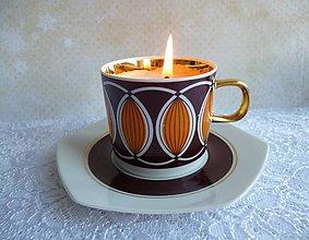 Svietidlá a sviečky - teacup candle / sviečka v šálke - 7757855_