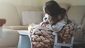 Obria pletená deka Merino -100X130