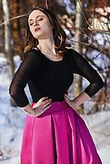 Sukne - Spoločenská skladaná sukňa s tylovou spodničkou rôzne farby - 7756862_