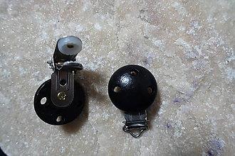Komponenty - Drevené zapínanie čierne - 7756039_