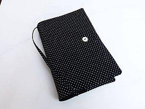 Papiernictvo - Mini Black dots -romantický obal na knihu,zápisník - 7757341_