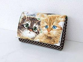 Peňaženky - Malé kotě, mňau, mňau :-) - peněženka i na karty - 7757427_