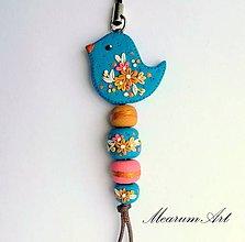 Kľúčenky - modrý vtáčik - 7755233_