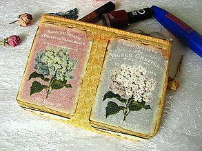 Peňaženky - Taštička na mobil - hortenzie - 7755035_