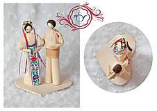 Darčeky pre svadobčanov - Folklórny párik - 7755177_