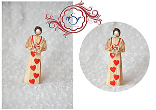 Darčeky pre svadobčanov - Bábika so srdiečkom - 7755200_