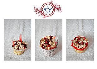 Darčeky pre svadobčanov - Šúpoľový košíček - 7755281_