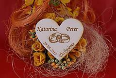 Darčeky pre svadobčanov - Drevená svadobná magnetka ako vyslužka hosťom  88 - 7755530_
