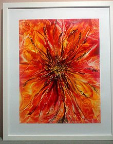 Obrazy - Oranžový kvet - 7762402_
