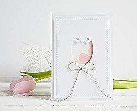 Papiernictvo - Pozdrav štýlový - tulipán ružový - 7761596_