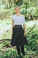 Sukne - Kolová sukně ze strážnického modrotisku Folksofie - 7761815_