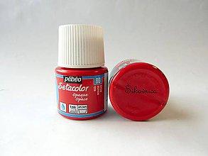 Farby-laky - Farba na textil  Pébéo, Setacolor opaque, rôzne farby, 45 ml (80 red (červená)) - 7760953_